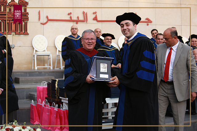 UOP President Confers Distinguished Teacher Award Upon Prof. AbuRub