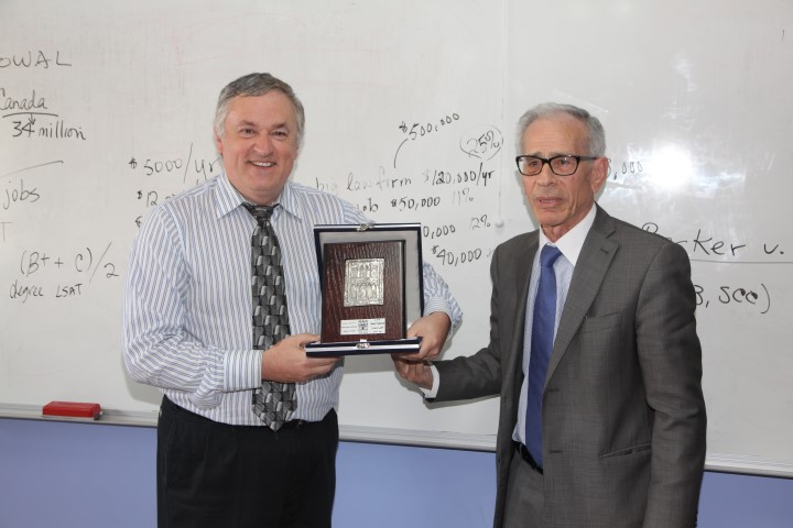 Visit of Professor Peter Bowal Calgary University of Canada to Faculty of Law/Petra University
